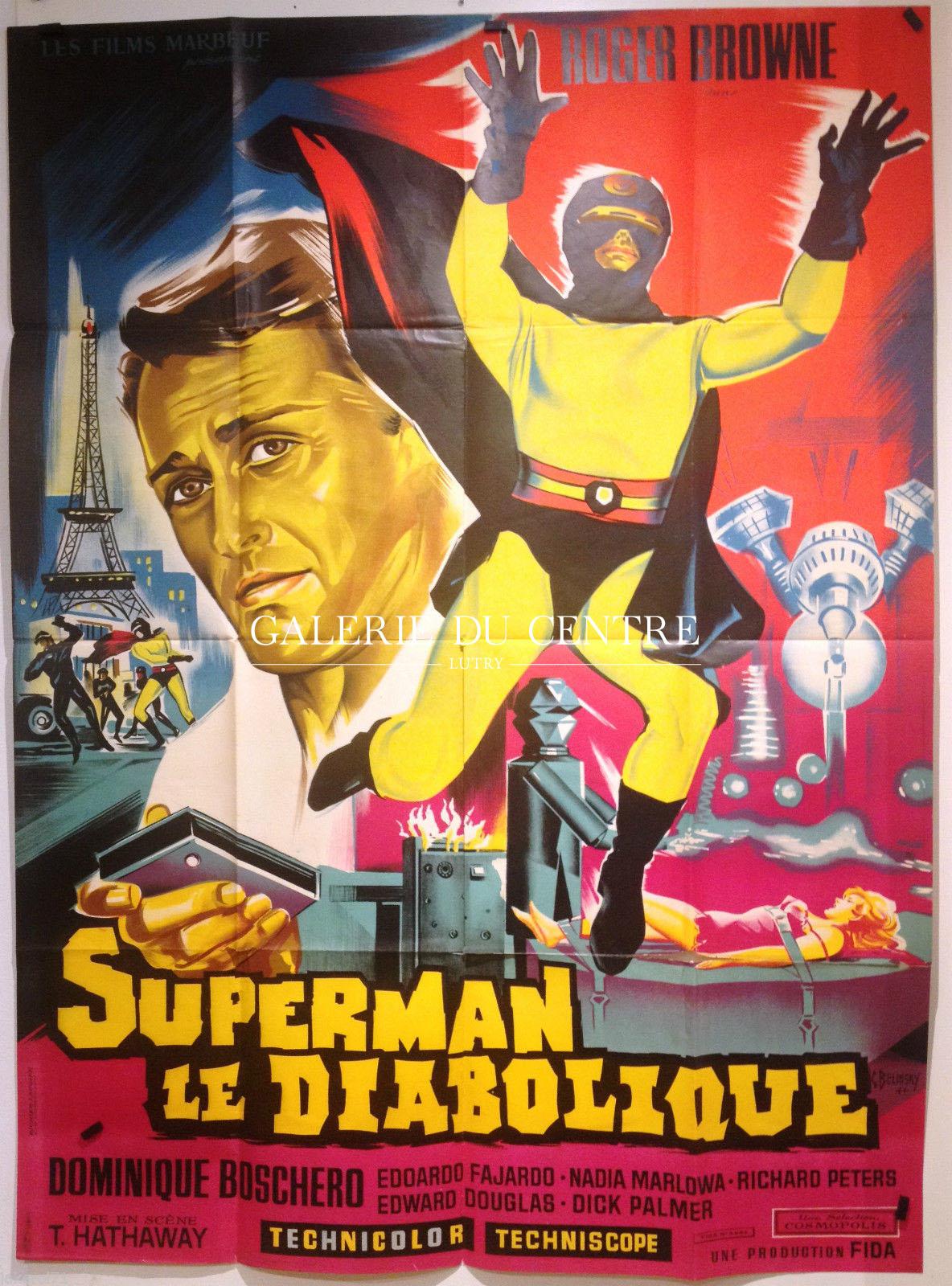 Cin ma film affiche cin ma superman le diabolique - Signe de superman ...